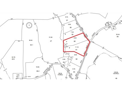 Tax Map for 882 Martindale - 19 acres