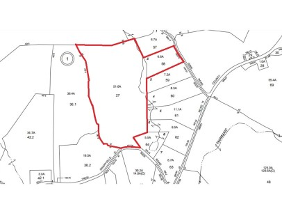 Tax Map for Geraci 6 + 51 Acre Lots