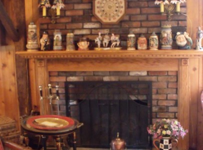 8 - living room fireplace